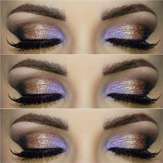 Flawless Gold & Purple Look by Trends-Style