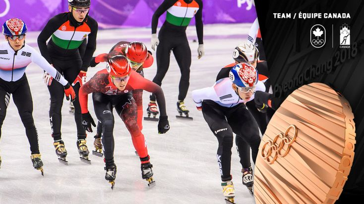 Canadian short track speed skaters capture bronze in men's 5000m relay