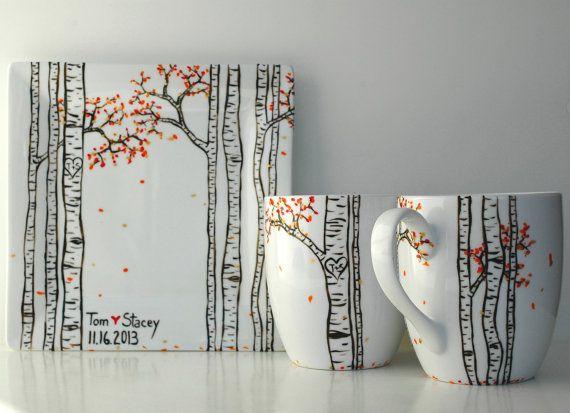Herbst-Aspen-Wald 2 große personalisierte von MaryElizabethArts