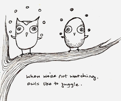 Juggling owls?Art Inspiration, Doodles, Inspiration Pictures, Circus Things, Funny Stuff, Juggling Owls, Owls Obsession, Owls Stuff, Drawing