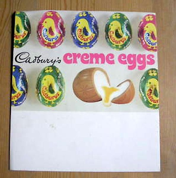 Creme Eggs when they were twice the size and came in different colour wrappers !