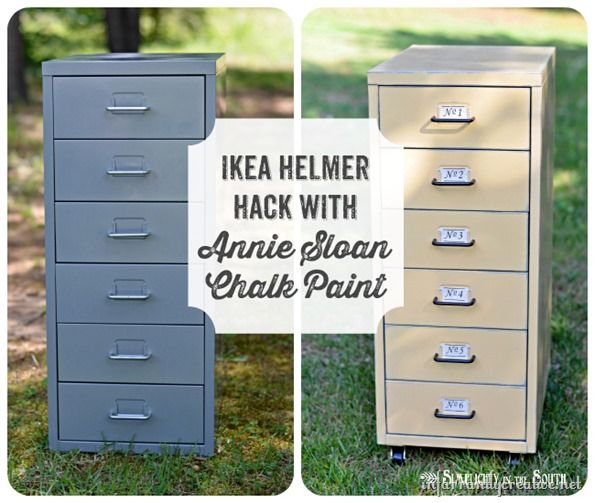 Chalk Paint Techniques For Kitchen Cabinets: IKEA Hack: Helmer Drawer Set