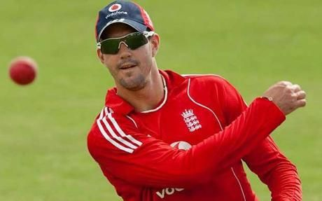 Kevin Pietersen. Nice ball. Cool shades. I wonder if I ask nicely he'd autograph my knickers for me. Hmm.