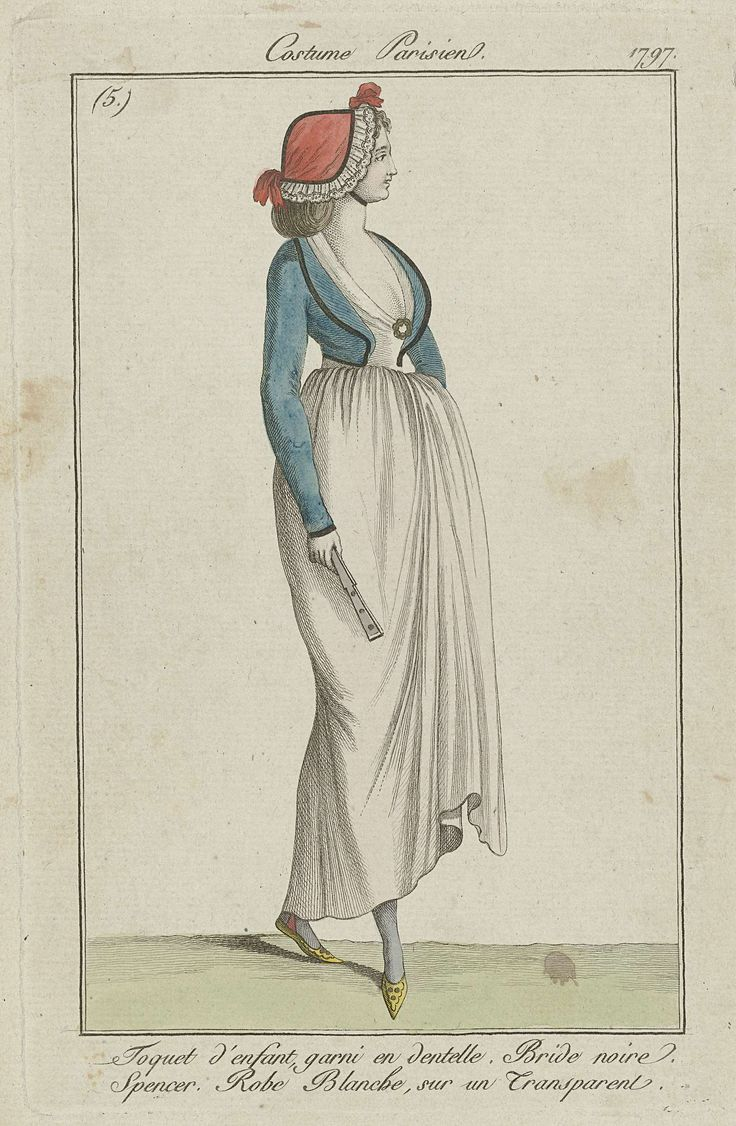 Journal des Dames et des Modes, Costume Parisien, 16 septembre 1797, (5): Toquet d'enfant garni en dentelle..., Anonymous, 1797