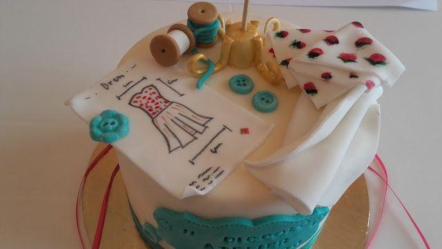 Le mille e una torta: La torta fashion dedicata al taglio e cucito e non...