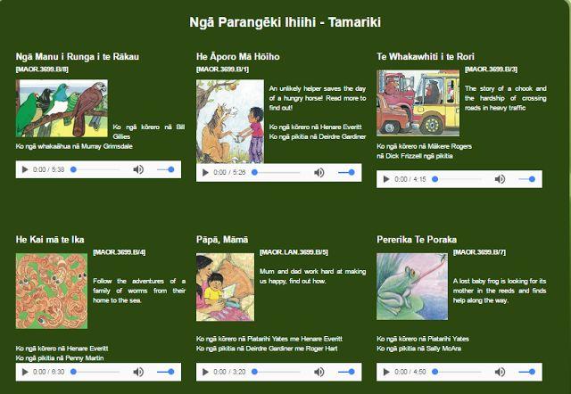 Te Reo Maaori Story Book Recordings Online!