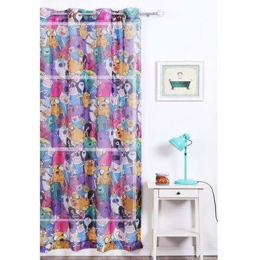 Adventure Time Sheer Eyelet Curtain Multicoloured 140 x 223 cm