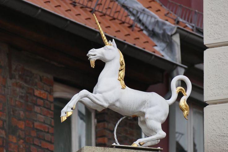 Lueneburg, unterwegs, das Einhorn der gleichnamigen Apotheke