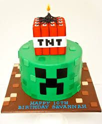 Image result for minecraft birthday cake