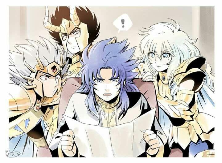 Saga, Deathmask, Aphrodite & Shura