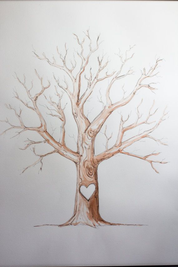 An upcoming wedding just introduced us to this Finger Print Tree Guest Book ... What a fun and create idea!