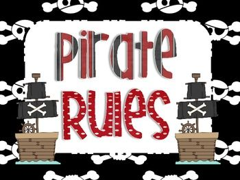 *FREEBIE* In this pack there are 5 posters that I use for rules in my pirate themed classroom. The rules are in