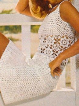 h kelkleid mit motivstreifen crochet sewing pinterest h keln handarbeiten und h ckeln. Black Bedroom Furniture Sets. Home Design Ideas