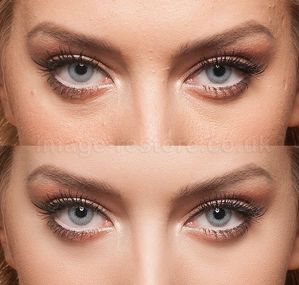 Example of skin and eye / model retouching