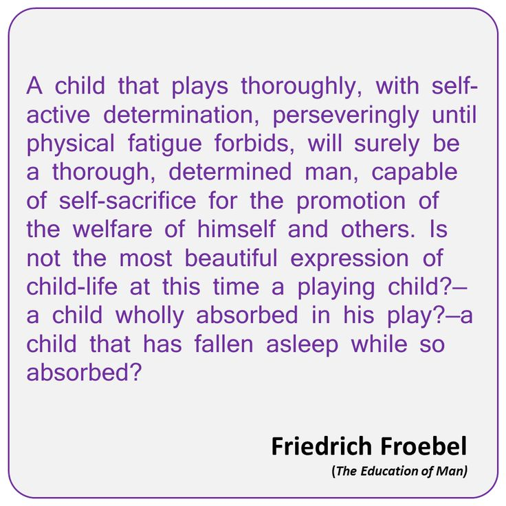 Frobels ideas on early childhood development