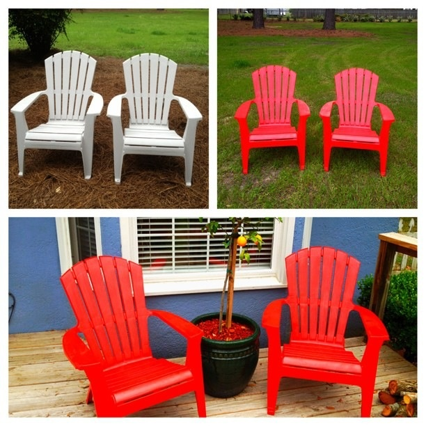 I Wanted To Paint My Chairs And Add A Little Color. I Used Lowes Valspar