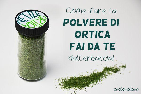L'ortica è salutare e deliziosa! Impara come fare la polvere di ortica fai da te e sarai felice di vedere l'erbaccia nel giardino! www.cucicucicoo.com