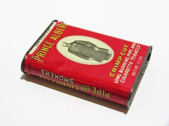 Prince Albert Crimp Cut Tobacco Tin  Vintage R.J. Reynolds