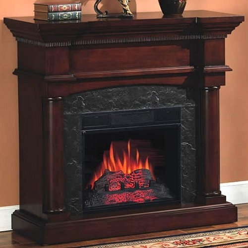 classic flame vineyard convertible indoor electric fireplace mahogan by twi http