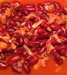 Spicy Kidney Bean Stew with Sausage