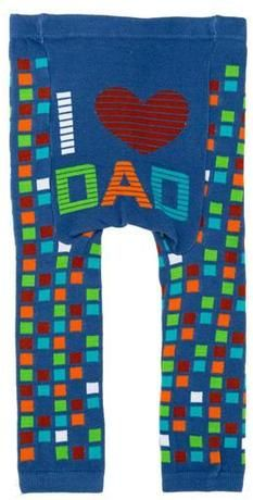 """Ahhh don't forget about dad! Mom does so much for the baby and dad sometimes feels helpless.  Throw some love his way with these adorable @Doodle Pants """"I ♥ DAD"""" #dad #babygift"""