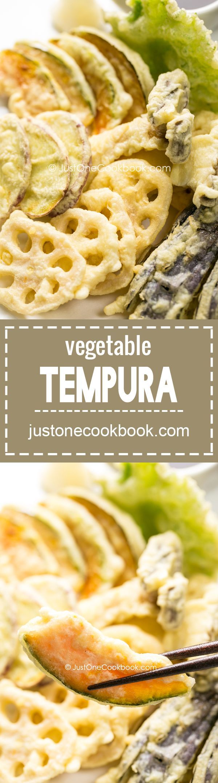 Vegetable Tempura (野菜の天ぷら) | Easy Japanese Recipes at http://JustOneCookbook.com