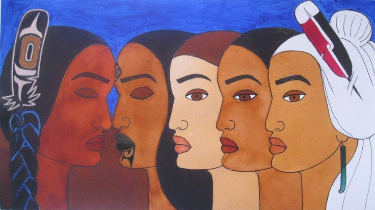 Maori Women In Solidarity With Idle No More by Robyn Kahukiwa