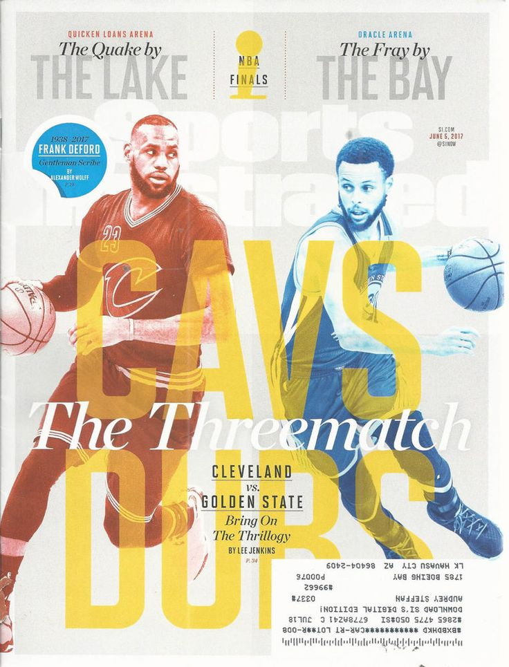 LeBron James Steph Curry Basketball Sports Illustrated June 5 2017 NBA Finals  #doesnotapply