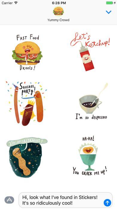 Illustrated by Olga Demidova. Yummy Crowd is available on the App Store! #ArtofOlgaDemidova #SmallCrowd #YummyCrowd #stickers #iMessage #app #ios #yummy #food #burger #ketchup #coffee #sausage #peanut #egg #children #illustration #art #style #smile #fun #funny #bestoftheday #startup #iphone #ipad #retrospective