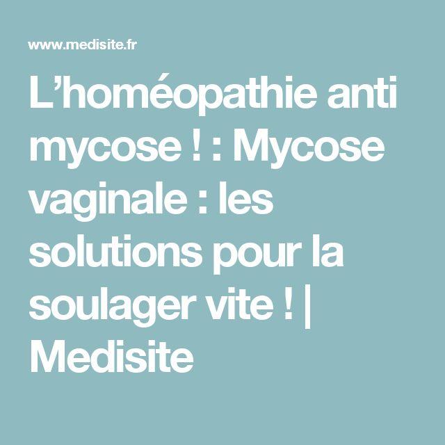 L'homéopathie anti mycose ! : Mycose vaginale : les solutions pour la soulager vite ! | Medisite