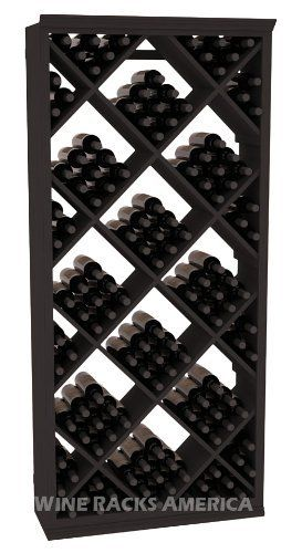 Five Star Series: 200 Bottle Diamond Wine Cellar Storage Rack in Pine with Black Stain by Wine Racks America®. $1014.76. Choose From either Pine, Redwood, or Mahogany along with optional Industry Leading Quality Eco-Friendly Stains Paired with an Immaculate Satin Finish. Each have custom finishes and are professionally stained to order, so please allow a few additional days after your purchase for your order to be shipped.. Bottle capacity: 200 bottles (750ml). I...