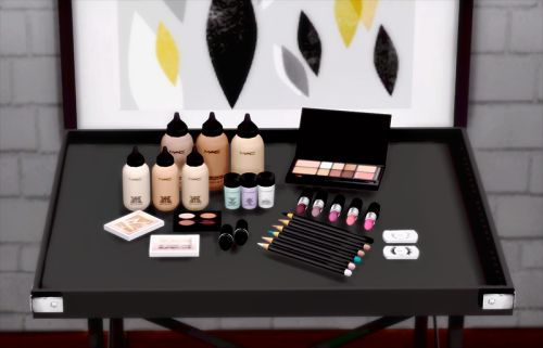 Yayasimblr MAC Makeup Set (s3 to s4) by Dreamteamsims.