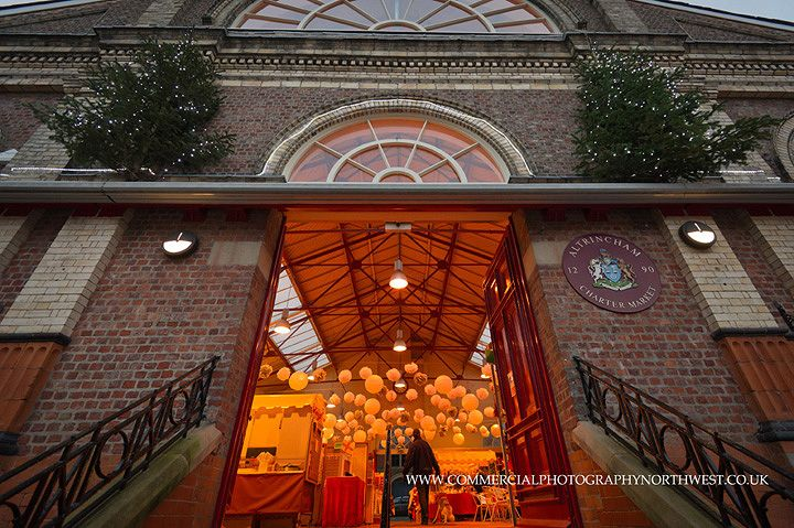 Altrincham Market Hall at Christmas