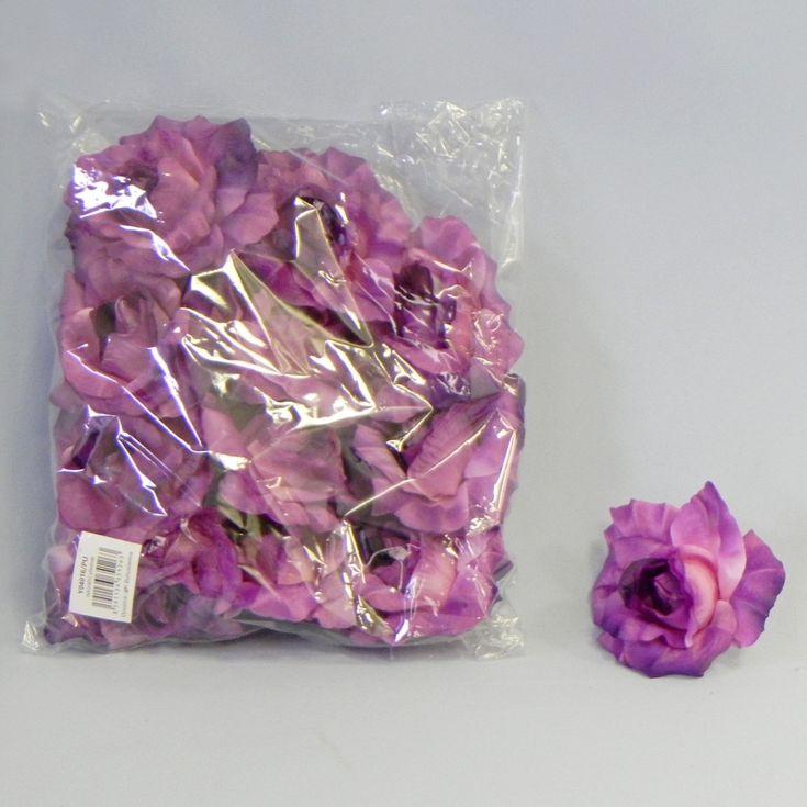 Růže textil S/12 fialová