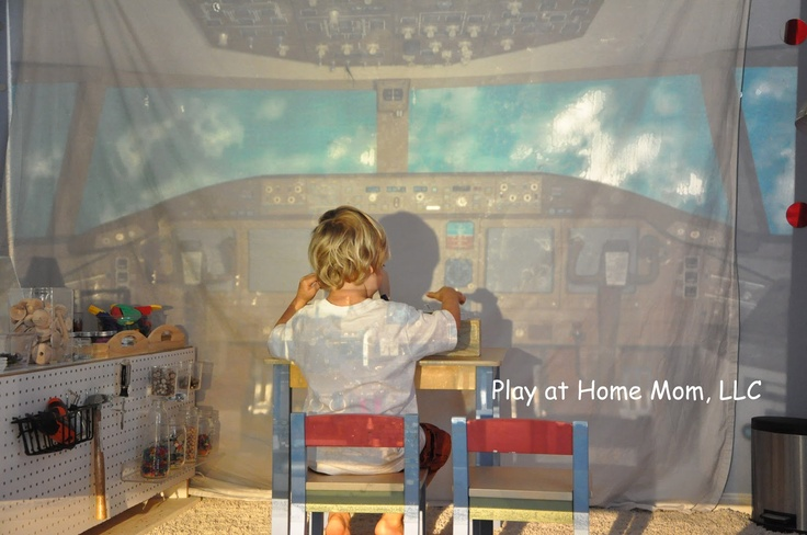 Play At Home Mom LLC: Imaginary Adventures (with an overhead projector). This would be a very cool way to quickly create an environment!