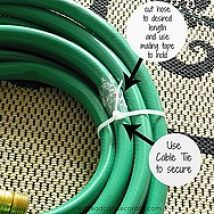Hometalk :: A friend of mine inspired me to make my own Garden Hose Wreath. I lo…
