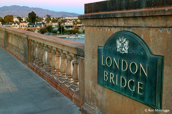 The London Bridge was dismantled in England and reassembled in Lake Havasu City,  Arizona