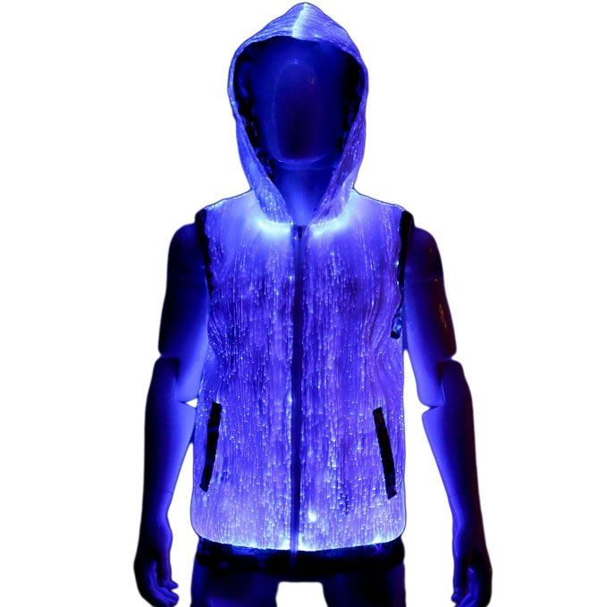 Fiber Optic Light-Up Hoodie Puts A Rave Spotlight On You And You Alone -  #fashion #party #rave #want