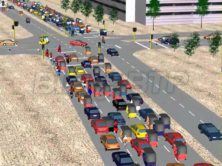 Simuler la circulation urbaine dans une maquette - Simulation de traffic routier (PTV VISSIM)