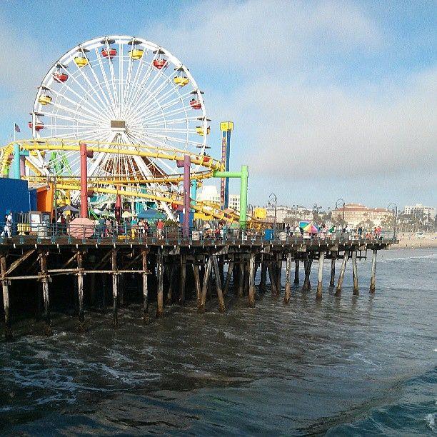 Santa Monica Pier- muscle beach, carousel, rides, the third street promenade...