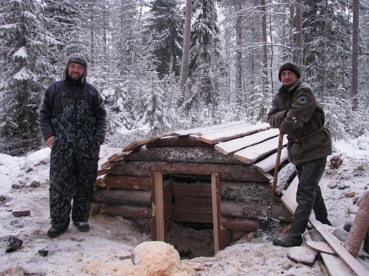 part 1 of building a woodsman hut in the russian wilderness, the translation can be a little rough, but the pictures speak for themselves, if it's in russian, paste it in google translate