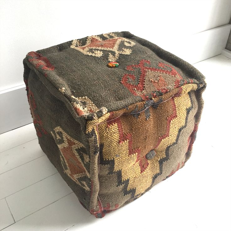 KILIM OTTOMAN from SOUK.co.nz