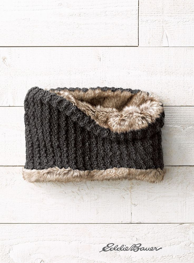 Faux Fur Cowl | Fight the cold with the ultrasoft. Textured acrylic cowl reverses to polyester faux fur, so it's easy to quickly change the look while maintaining toasty comfort.