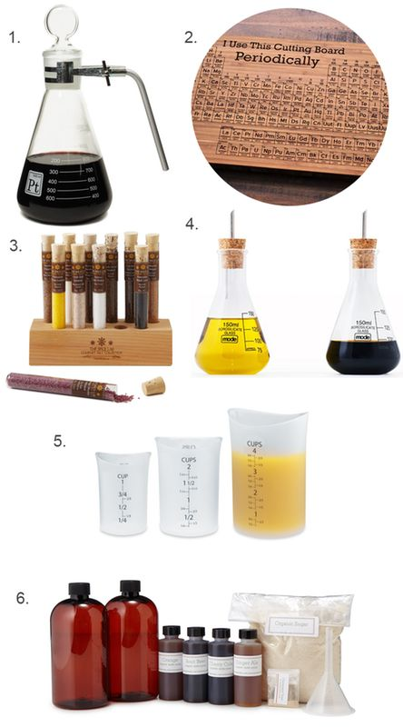 Erlenmeyer flasks, test tubes, and lab-style mixing bottles are just a few of the chem lab-inspired goodies making us happy this week