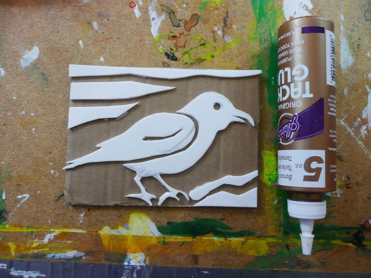 Cut shapes out of craft foam and glue to a piece of cardboard to make a stamp. Great idea!!!