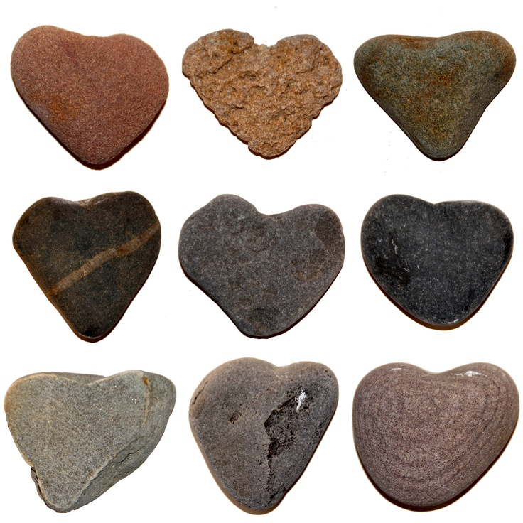 Find Good Luck Stone : Heart stones are special but only if you find them