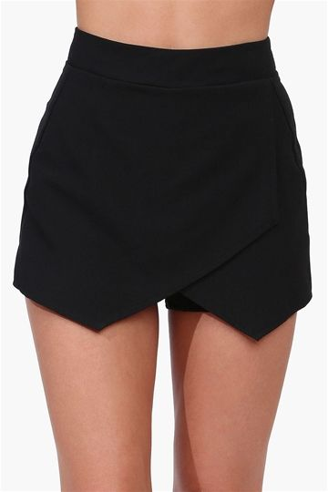 Envelope Skort - Black