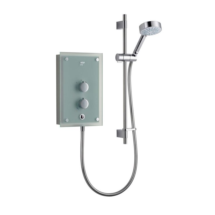 Mira Azora 9.8kw electric shower frosted glass | VictoriaPlum.com