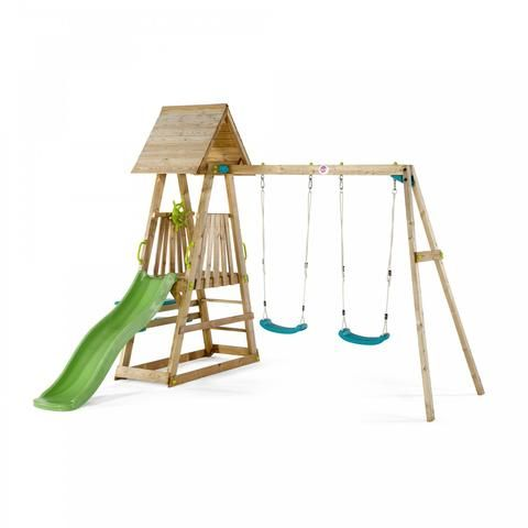 The Plum Indri Wooden Climbing Frame Is Packed Full Of Features For Outdoor  Adventures. The Wooden Play Structure Is Made From Strong And Durable Pine,  ...