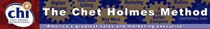Chet Holmes developed the systems and procedures that help ALL businesses run better, faster, smarter, more productively and more profitably. Small business and home business owners can now share the same success as the Fortune 500 businesses that Chet Holmes has trained